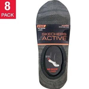 Skechers Ladies' No Show Liner Sock, 8 Pack